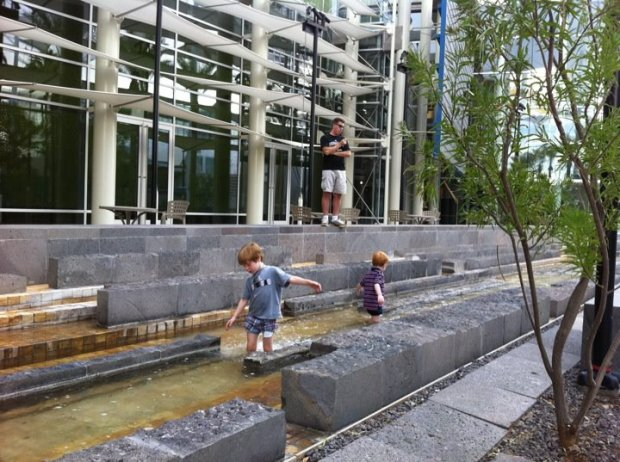 Fountains for wading