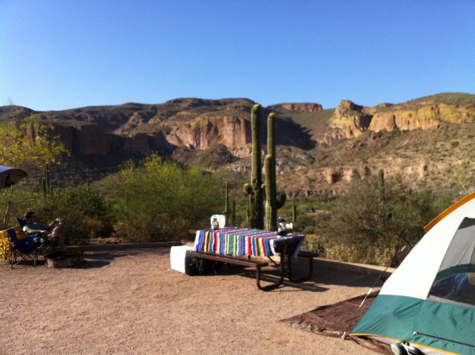 Epic Natural Beauty: Camping in Tortilla Flat | K8 Librarian