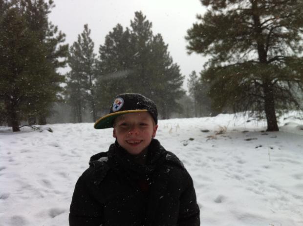 brady in the snow