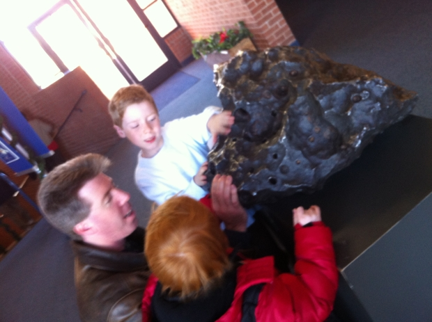 Inside the visitors center is an interactive museum, films, hands on display, an appealing gift shop, a Subway and this giant meteorite!