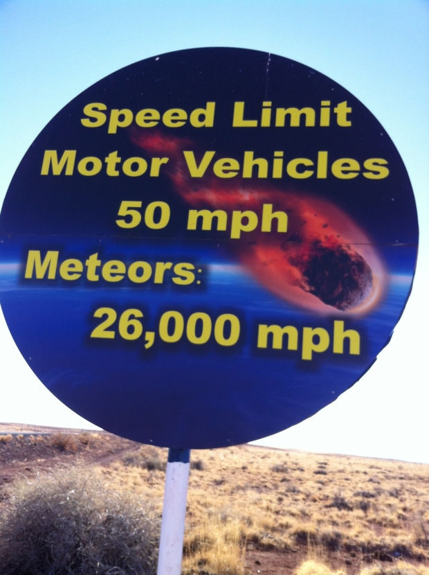 We passed this sign on the way to the crater. Funny!