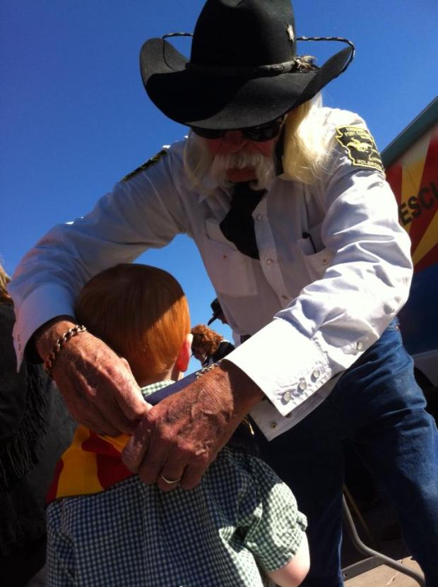 Max and a Hash Knife cowboy, Mr. Jack Mead.