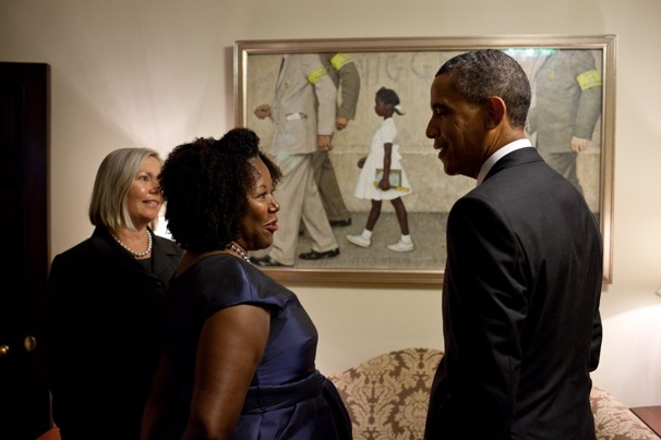 President Obama meets Civil Rights icon Ruby Bridges