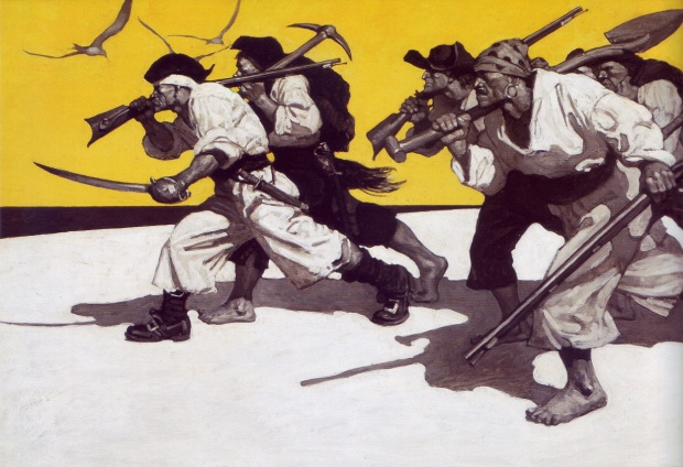 illustration from Treasure Island by N.C. Wyeth