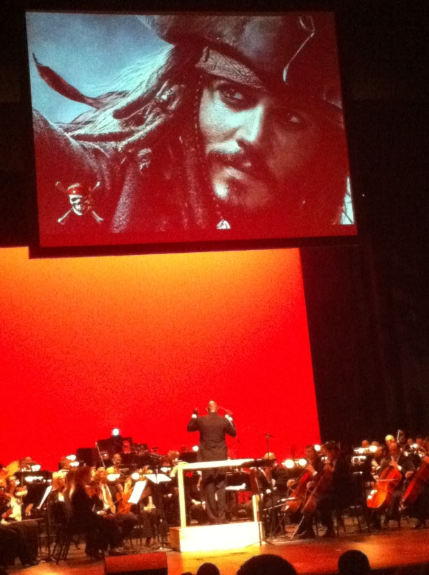 The closing song was a theme from the Pirates of the Caribbean