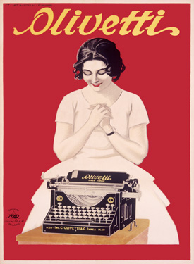 Olivetti-Office-Typewriter-Poster