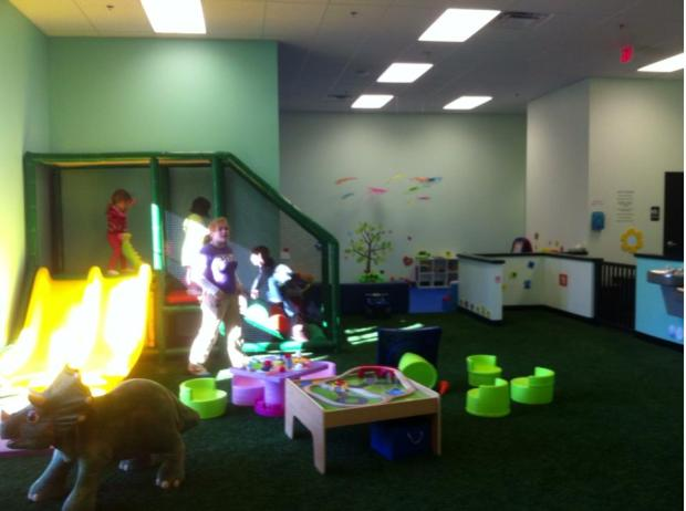 part of playroom for younger kids and babies, super cute!