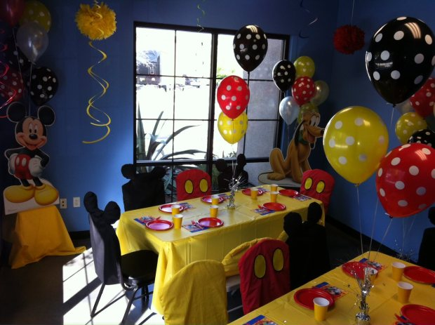 Birthday party rooms can be themed out almost any way. Always cute and creative!
