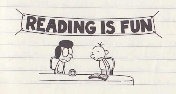 by the way, lots of kids only read Wimpy Kid for 2 years straight. I don't know why, but it's a phase and it passes.