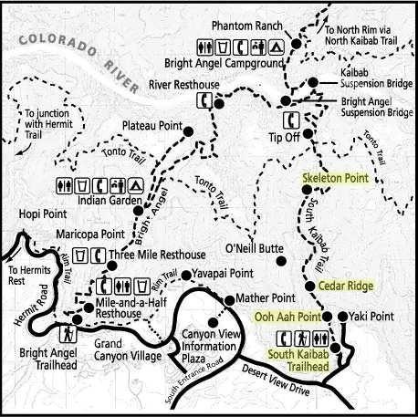 south-kaibab-trail-map