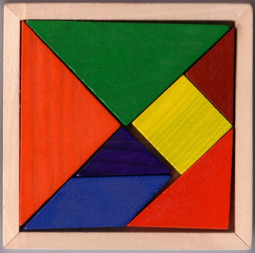 The class has a tangrams game to play with, and you can find loads of tangram apps and puzzles online.