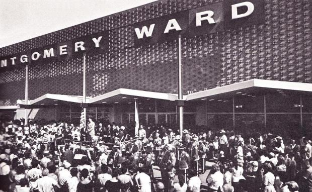 montgomery ward honer plaza 1961 pleasantfamilyshopping