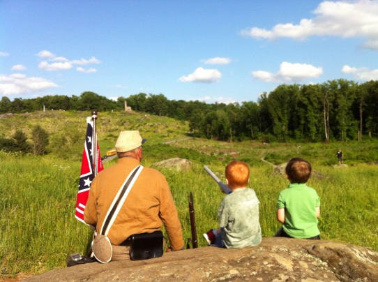 Looking at Little Round Top from Devil's Den