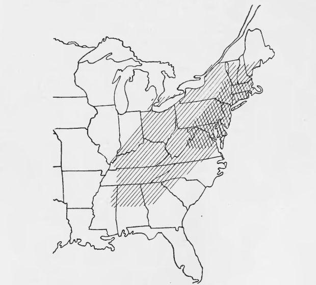 PSM_V84_D557_Natural_range_of_the_american_chestnut